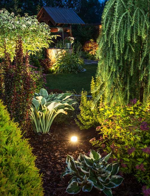 Beautify nightscaping by Create-A-Scape to accent your Haddonfield New Jersey home