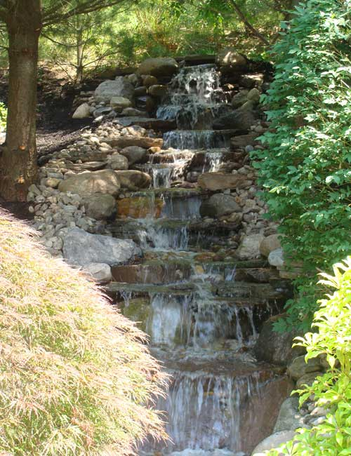 Landscaping enhanced with hardscaping to create your own private oasis in Medford New Jersey