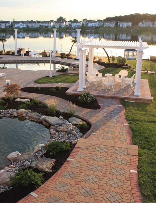 Hardscaping paver installation to enhance the features of your Medford New Jersey yard