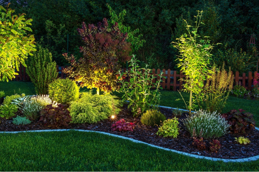 Outdoor lighting to beautify the exterior of your home in Medford New Jersey