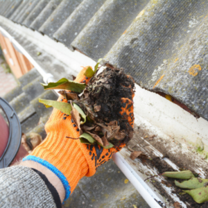 Gutter cleaning is an essential fall lawn care chore here in Cherry Hill, NJ.
